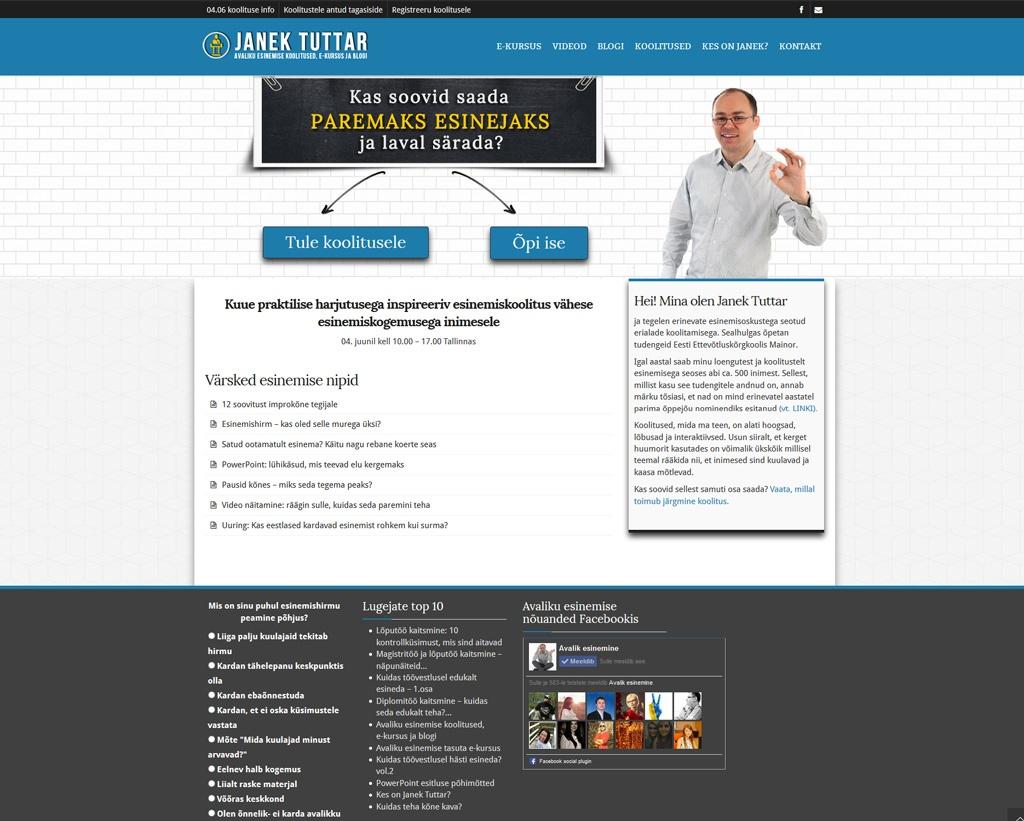 Kodulehe tegemine - Avalikesinemine.net veebidisain