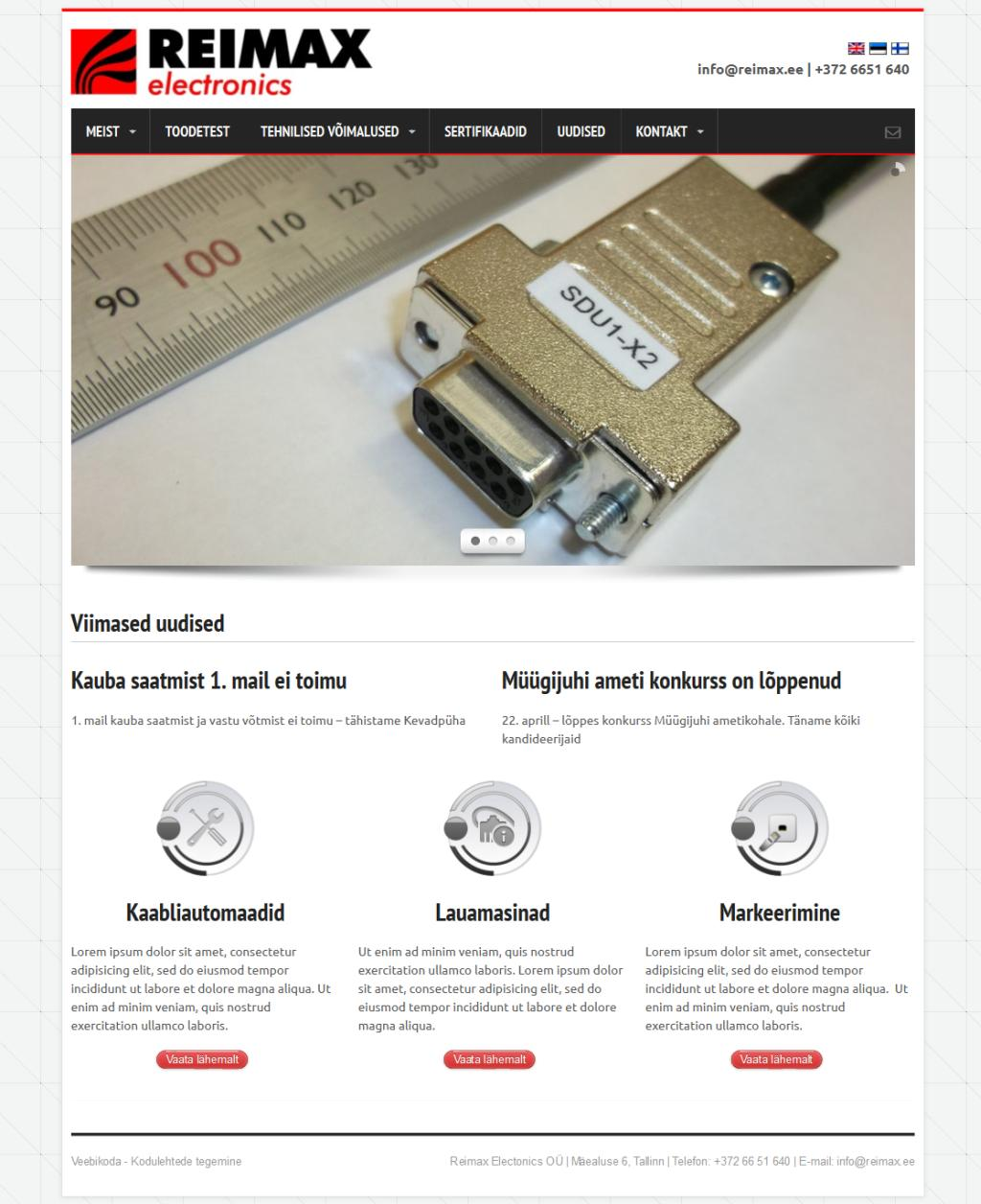 Kodulehtede valmistamine - Reimax Electronics