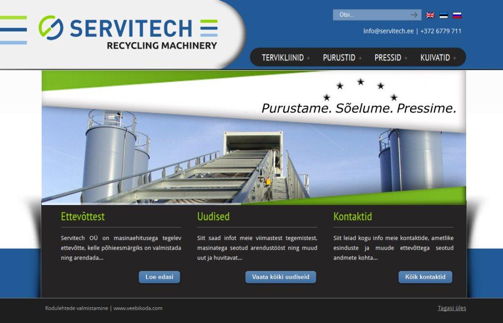Veebilehe tegemine masinaehitusfirmale