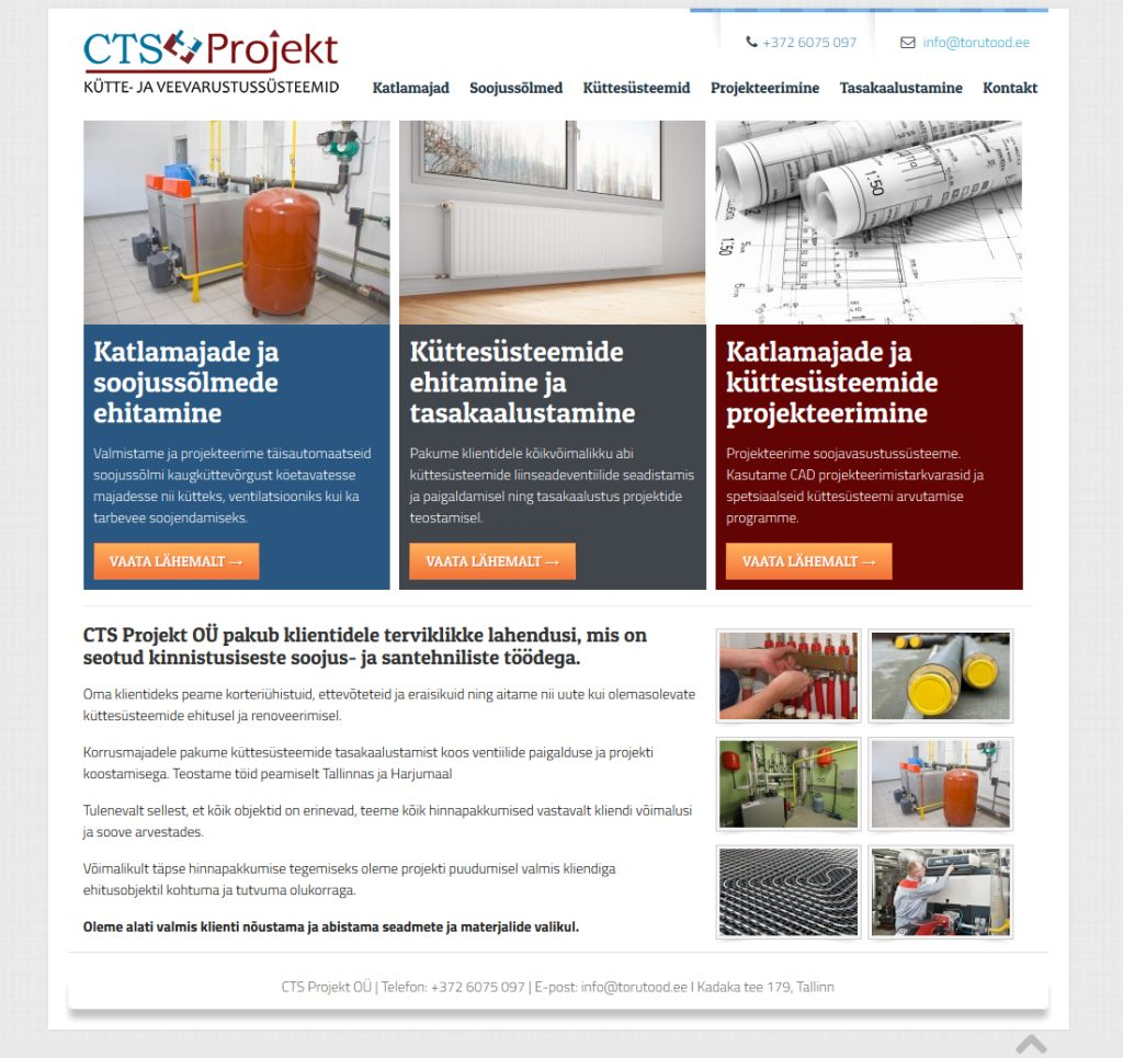 Veebilehe tegemine soojustööde firmale