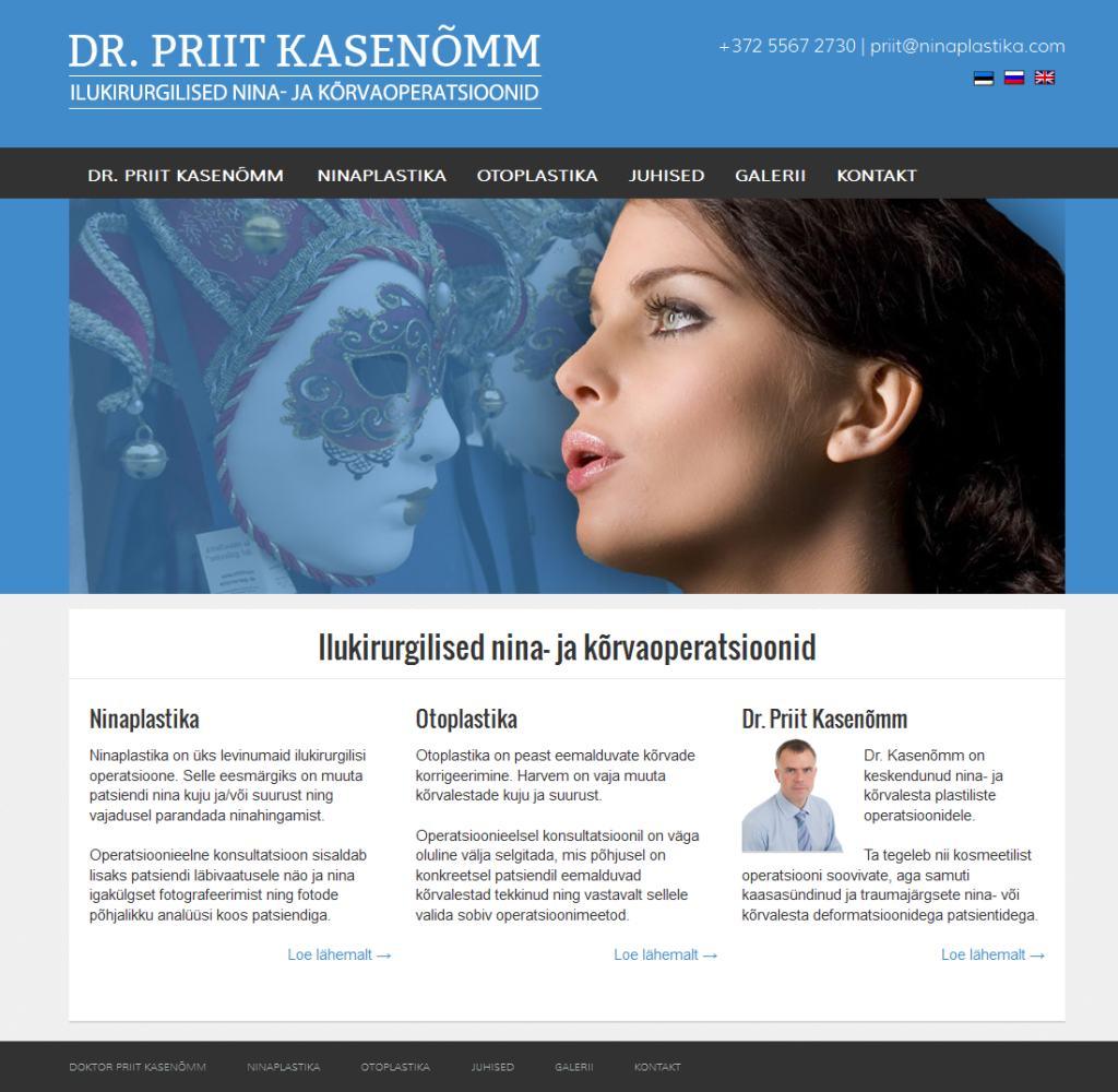Veebilehe valmistamine meditsiiniasutusele