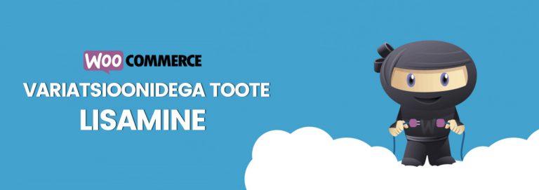 Woocommerce e-poe haldamine: variatsioonidega toote lisamine