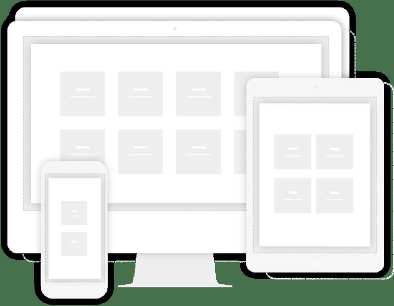 Mobiilseadmetele kohaldatud (skaleeruvad) kodulehed